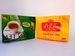Ceylon Tea Club  Green Tea Tea Bag-100 Staple-Free Bags per