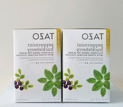 2 Boxes TAZO Peppermint Huckleberry Green Tea Blend Filterba