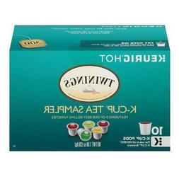 2 Twinings K-Cup Pack Tea Sampler Earl Grey, Green, Chai, Pe