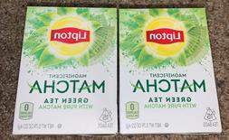 2 Lipton Magnificent Matcha Green Tea Bags 30 Total EXP 1/21