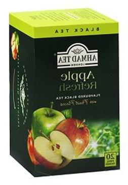20 Ct , Ahmad Apple Refresh Black Tea, Foil Enveloped, New,