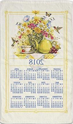 2018 Kitchen Linen Calendar Towel with Dowel for Easy Hangin