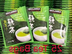 25 Tea Bags ~ Kirkland Signature's Japanese Green Tea Bags S