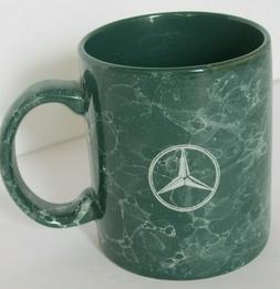 "3.4"" Mercedes Benz Coffee Tea Cup Mug Green Marble Design Ca"
