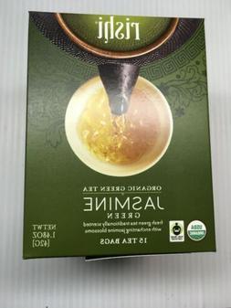 3 pack of 15 Rishi Organic Green Jasmine Tea Bags - Exp 10/1