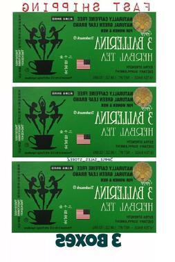 3 Pack 3 Green Ballerina Tea Herbal Dieters Drink  - 18 Tea
