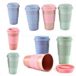 300ML Wheat Straw Coffee Tea Mug Cups Reusable Bamboo Fibre