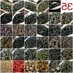 35 Different Chinese Tea including Oolong Puer Black Green T