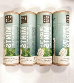 4 eco tubes SENCHA  GREEN TEA MINTS sage peppermint 35 x 4 m