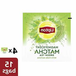 4Pk Lipton Green Tea Bags, 100% Pure Matcha Rainforest Allia