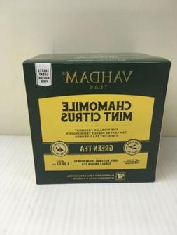 6 pack of Vahdam Teas - Chamomile Mint Citrus Green Tea - 15