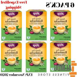 6 Pack's Yogi Herbal Green Tea  16 Tea Bags NET WT 1.12 OZ