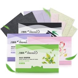 80pcs Face Absorbent Oil Paper Absorbent Leaf Face Oily Wash