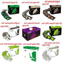 Fields & Selects English Breakfast Black Tea, Green Tea 32 /