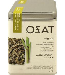 90 Count Tazo Zen Green Tea Lemongrass Spearmint Full Leaf S