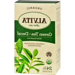Alvita Products, Inc. Tea, 95+% organic, Green, Decaf, 24 ba