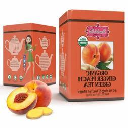 Brew La La - Organic Green Tea Ginger Peach - 50 Tea Bags