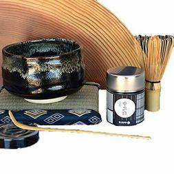 Japanese Matcha Green Tea Service Set   inclu. Tea Bowl, Mat