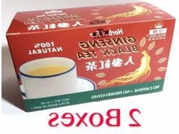 Royal King Ginseng Black Tea 20 Tea Bags 100% Natural