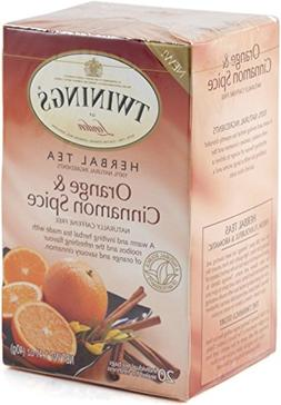 Twinings Orange and Cinnamon Spice Tea, 40 Count