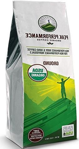 Peak Performance High Altitude Organic Coffee. No Pesticides