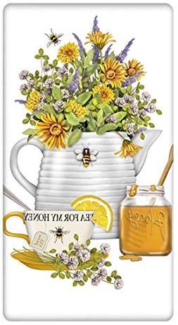Bee Hive Teapot 100% Cotton Flour Sack Dish Tea Towel - Mary