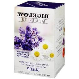 Bigelow Benefits - Chamomile & Lavender Herbal Tea, Pack of