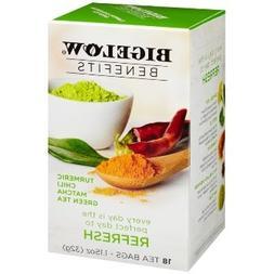 Bigelow Benefits Tumeric Chili Matcha Green Tea - 3 Boxes of