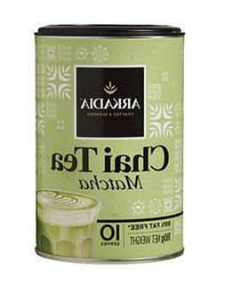 ARKADIA Beverages Chai Green Tea Matcha Powder 98% Fat Free