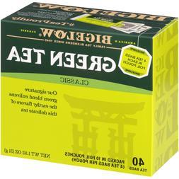 Bigelow Classic Green Tea Bags, 40-Count Boxes Pack of 6, Ca