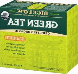 Bigelow Decaffeinated Organic Green Tea 40-Count Boxes  Deca