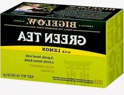 Bigelow Green Tea with Lemon, Decaffeinated 20ct. Tea Bags,