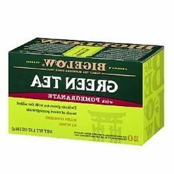 Bigelow® Green Tea with Pomegranate 1.37 oz. Box