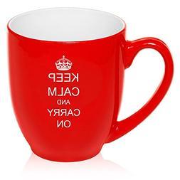 2a6d8d32541 16 oz Large Bistro Mug Ceramic Coffee Tea Glass Cup Keep Cal