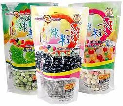 Black/Color/Green Tea Tapioca Pearls Boba Bubble Tea & Taro
