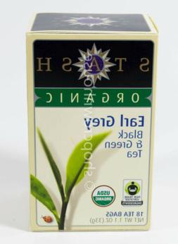 Stash Organic Tea Black & Green Tea Bags, Earl Grey, 1.1 oz
