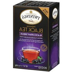 Twinings Premium Blackcurrant Breeze Black Tea, 40 Count