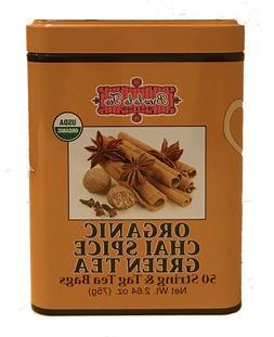 Brew La La Organic Chai Spice Green Tea, 50 bags