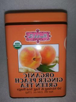 Brew La La Organic Ginger Peach  Green Tea, 50 bags