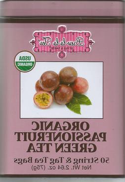 Brew La La USDA Organic Passionfruit Green Tea 50 Bag,Tin Ca