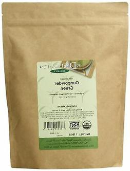 Davidson's Tea Bulk, Organic Gunpowder Green, 1-Pound Bag