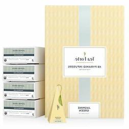 Tea Forte Jasmine Green EVENT BOX Bulk Pack, 48 Handcrafted
