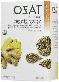 Tazo Tea Caffeine Free Herbal Infusion, Organic Spicy Ginger