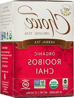 Choice Organic Teas Caffeine Free Herbal Tea, Rooibos Chai,