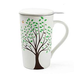 TEA SONG Ceramic Tea-Mug with Infuser and Lid, Jupiter, Dad
