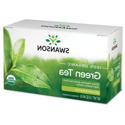 Swanson 100% Certified Organic Green Tea Decaffe 20 Bag