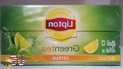 Lipton Ceylon Green Tea 20 Tea Bags Citrus Flavor Direct Fro