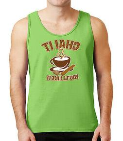 Chai it Mens Tank Top Tea time party and Cup Tanks for Men -