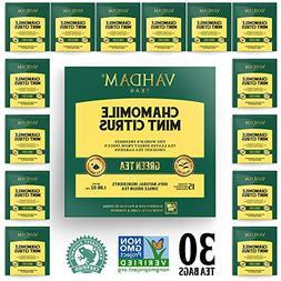 Chamomile Tea with Mint & Citrus    LOW CAFFEINE, SLEEP TIME