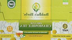 Chamomile Tea Organic -  22 Count Tea Bags - Green Tea - Org